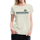 MISSISSIPPI MUDCATS WOMEN'S PREMIUM TEE - heather oatmeal