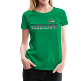 MISSISSIPPI MUDCATS WOMEN'S PREMIUM TEE - kelly green