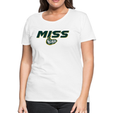 MISSISSIPPI MUDCATS SPECIALITY WOMEN'S PREMIUM TEE - white