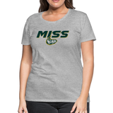 MISSISSIPPI MUDCATS SPECIALITY WOMEN'S PREMIUM TEE - heather gray