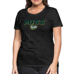 MISSISSIPPI MUDCATS SPECIALITY WOMEN'S PREMIUM TEE - charcoal gray