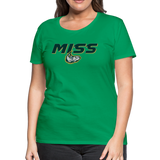 MISSISSIPPI MUDCATS SPECIALITY WOMEN'S PREMIUM TEE - kelly green