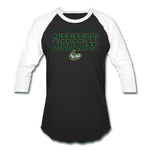 MISSISSIPPI MUDCATS MEN'S BASEBALL TEE - black/white