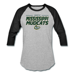 MISSISSIPPI MUDCATS MEN'S BASEBALL TEE - heather gray/black