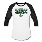 MISSISSIPPI MUDCATS MEN'S BASEBALL TEE - white/black