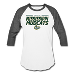 MISSISSIPPI MUDCATS MEN'S BASEBALL TEE - white/charcoal