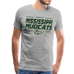 MISSISSIPPI MUDCATS MEN'S PREMIUM TEE - heather gray