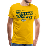 MISSISSIPPI MUDCATS MEN'S PREMIUM TEE - sun yellow