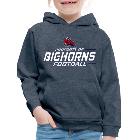 HOUSTON BIGHORNS KID'S PREMIUM HOODIE - heather denim