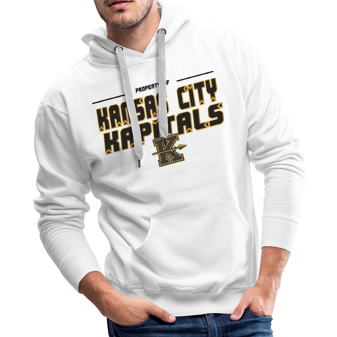 KANSAS CITY KAPITALS MEN'S PREMIUM HOODIE - white