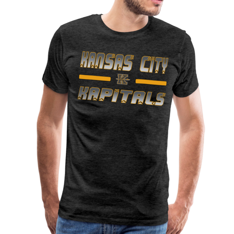 KANSAS CITY KAPITALS MEN'S PREMIUM TEE - charcoal gray