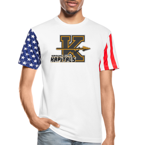 KANSAS CITY KAPITALS STARS & STRIPES TEE - white