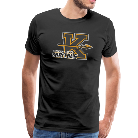 KANSAS CITY KAPITALS MEN'S PREMIUM TEE - black