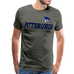 PITTSBURGH PIONEERS MEN'S PREMIUM TEE - asphalt gray
