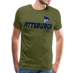 PITTSBURGH PIONEERS MEN'S PREMIUM TEE - olive green