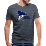 PITTSBURGH PIONEERS MEN'S V-NECK TEE - heather navy