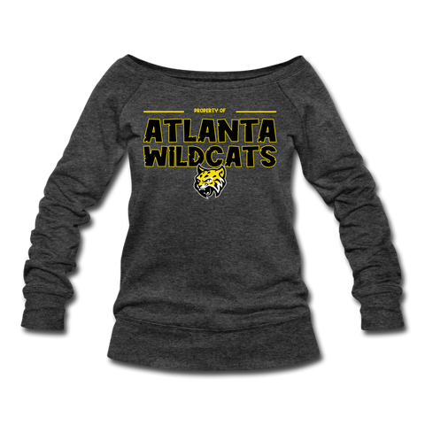ATLANTA WILDCATS WOMEN'S WIDENECK SWEATSHIRT - heather black
