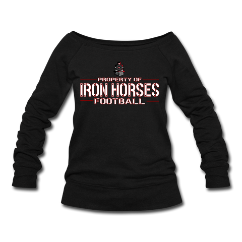 VIRGINIA IRON HORSES WOMEN'S WIDENECK SWEATSHIRT - black