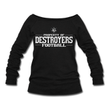 VIRGINIA BEACH DESTROYERS WOMEN'S WIDENECK SWEATSHIRT - black