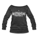 VIRGINIA BEACH DESTROYERS WOMEN'S WIDENECK SWEATSHIRT - heather black
