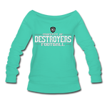 VIRGINIA BEACH DESTROYERS WOMEN'S WIDENECK SWEATSHIRT - teal