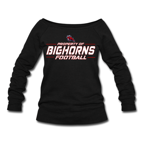 HOUSTON BIGHORNS WOMEN'S WIDENECK SWEATSHIRT - black