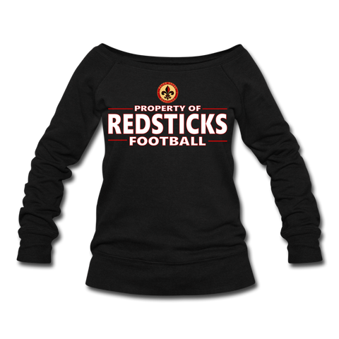 BATON ROUGE REDSTICKS WOMEN'S WIDENECK SWEATSHIRT - black