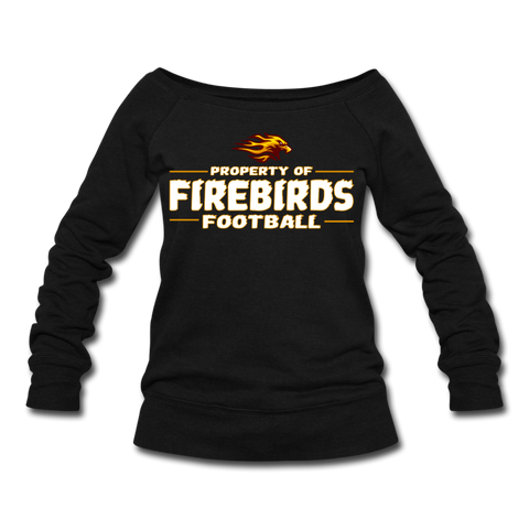 LOUISVILLE FIREBIRDS WOMEN'S WIDENECK SWEATSHIRT - black