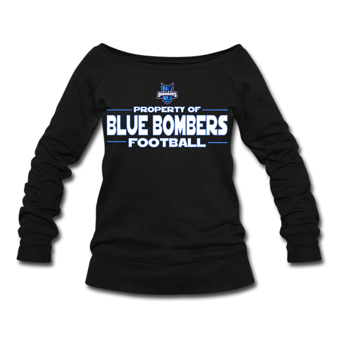INDIANA BLUE BOMBERS WOMEN'S WIDENECK SWEATSHIRT - black