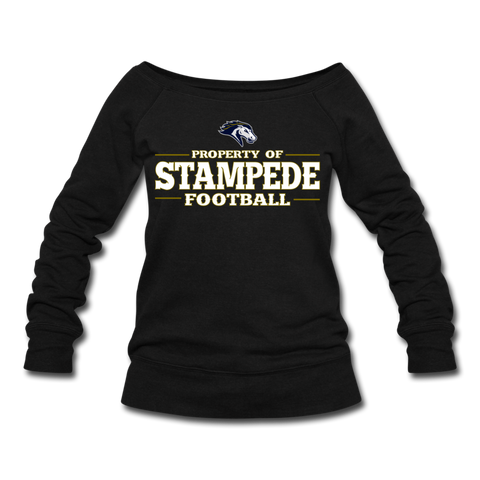 ST LOUIS STAMPEDE WOMEN'S WIDENECK SWEATSHIRT - black