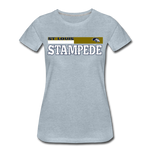ST LOUIS STAMPEDE WOMEN'S PREMIUM TEE - heather ice blue