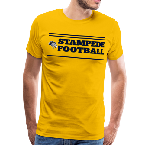 ST LOUIS STAMPEDE MEN'S PREMIUM TEE - sun yellow