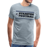 ST LOUIS STAMPEDE MEN'S PREMIUM TEE - heather ice blue
