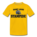 ST LOUIS STAMPEDE KID'S PREMIUM TEE - sun yellow