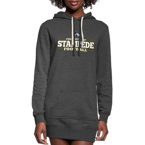 ST LOUIS STAMPEDE WOMEN'S PREMIUM HOODIE DRESS - heather black