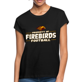 LOUISVILLE FIREBIRDS WOMEN'S RELAXED TEE - black