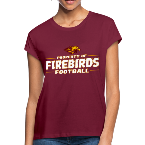 LOUISVILLE FIREBIRDS WOMEN'S RELAXED TEE - burgundy