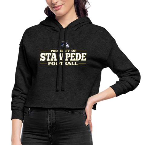 ST LOUIS STAMPEDE WOMEN'S CROPPED HOODIE - deep heather