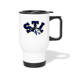 ST LOUIS STAMPEDE SPECIALTY TRAVEL MUG - white