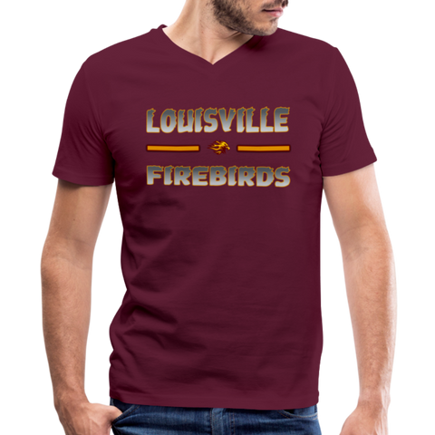 LOUISVILLE FIREBIRDS MEN'S V-NECK TEE - maroon