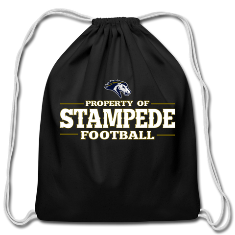 ST LOUIS STAMPEDE COTTON DRAWSTRING BAG - black