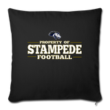 ST LOUIS STAMPEDE THROW PILLOW COVER - black