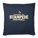 ST LOUIS STAMPEDE THROW PILLOW COVER - navy
