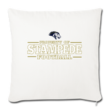 ST LOUIS STAMPEDE THROW PILLOW COVER - natural white