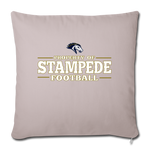ST LOUIS STAMPEDE THROW PILLOW COVER - light taupe