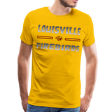 LOUISVILLE FIREBIRDS MEN'S PREMIUM TEE - sun yellow