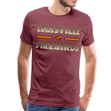 LOUISVILLE FIREBIRDS MEN'S PREMIUM TEE - heather burgundy