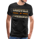 LOUISVILLE FIREBIRDS MEN'S PREMIUM TEE - charcoal gray