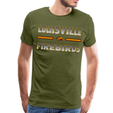 LOUISVILLE FIREBIRDS MEN'S PREMIUM TEE - olive green