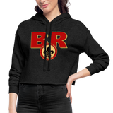 BATON ROUGE REDSTICKS SPECIALITY WOMEN'S CROPPED HOODIE - deep heather